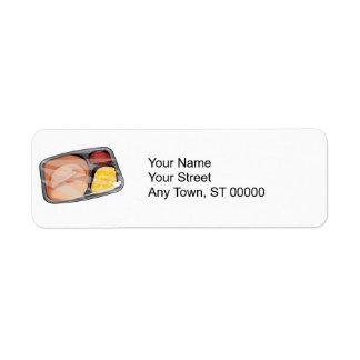 frozen tv dinner label