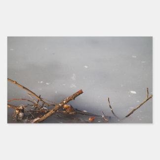 Frozen Twigs Rectangular Sticker