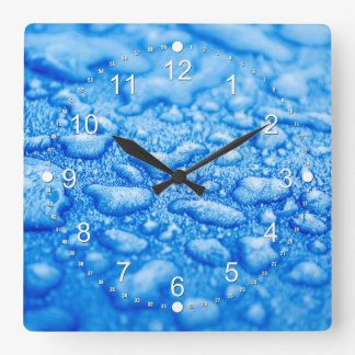Frozen Water Drops Square Wall Clock