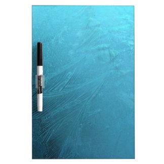 Frozen Water Ice Blue Frost Chic Winter Metallic Dry-Erase Board
