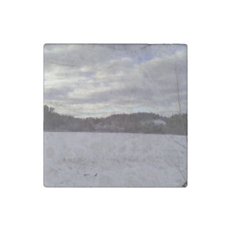 Frozen water nature stone magnet