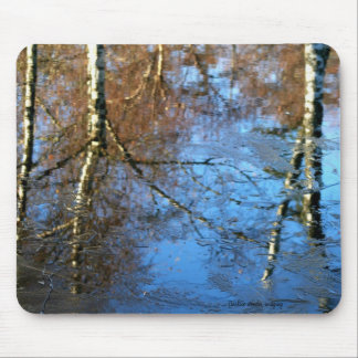 Frozen Water Reflection Mouse Pad