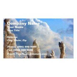 Frozen Water Splash Business Card
