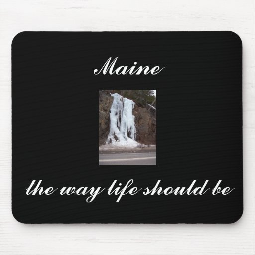 frozen waterfall bar harbor Maine Mouse Pad