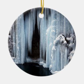 Frozen Waterfall Ceramic Ornament