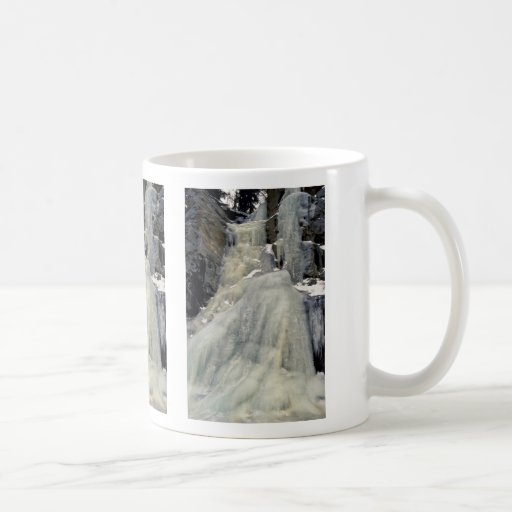 Frozen waterfall, Colorado Coffee Mugs