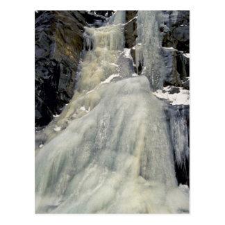 Frozen waterfall, Colorado Postcard