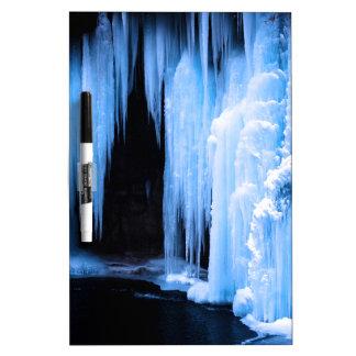 Frozen Waterfall Dry Erase Whiteboard