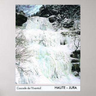 Frozen waterfall, Haute Jura, France Poster