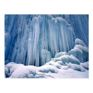 Frozen Waterfall Haute Jurs, France Postcard