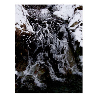 Frozen Waterfall in Captain's Bay Area Postcard