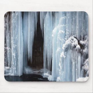 Frozen Waterfall Mouse Pad