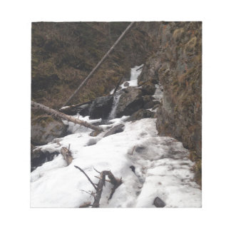Frozen Waterfall Pioneer Falls Alaska Notepad