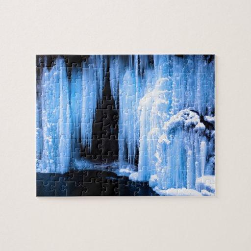 Frozen Waterfall Jigsaw Puzzles