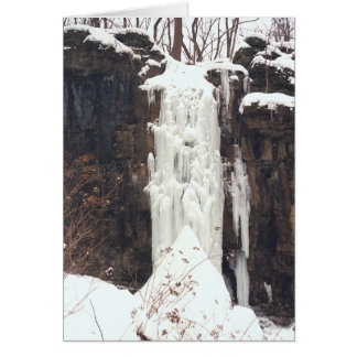 """""""FROZEN WATERFALL"""" STATIONERY NOTE CARD"""