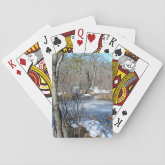 Frozen Wetlands Pond Playing Cards