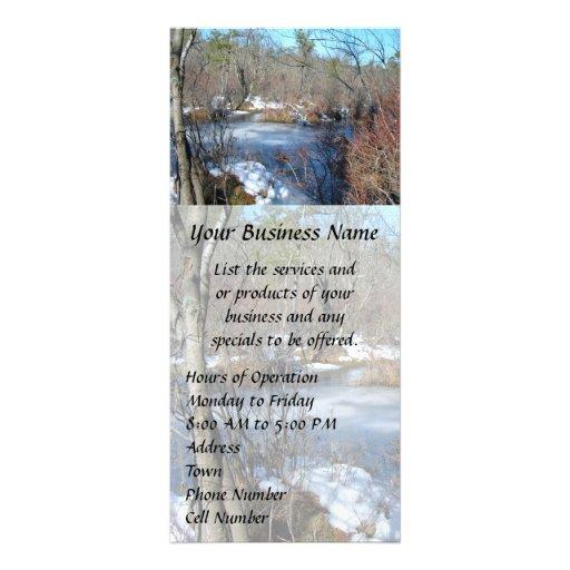 Frozen Wetlands Pond Rack Cards