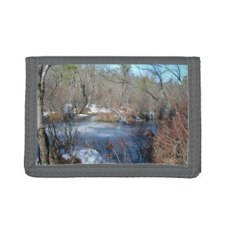 Frozen Wetlands Pond Trifold Wallet