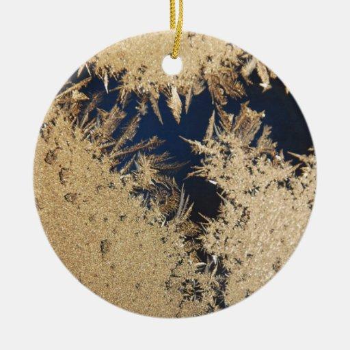 Frozen Window in the Morning Ceramic Ornament