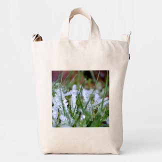 Frozen Winter Grass Duck Bag
