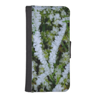 Frozen Winter Grass Phone Wallet Case