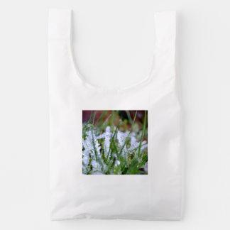 Frozen Winter Grass Reusable Bag