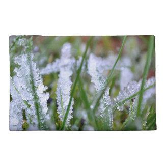 Frozen Winter Grass Travel Accessory Bag
