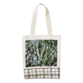 Frozen Winter Grass Zazzle HEART Tote Bag