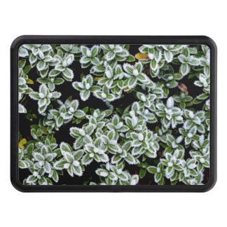 Frozen Winter Plants Tow Hitch Cover