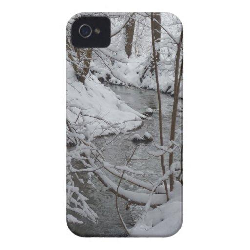 Frozen Winter River iPhone 4 Cases