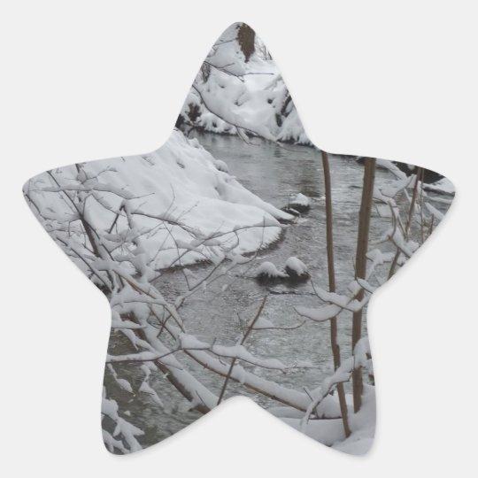 Frozen Winter River Star Sticker