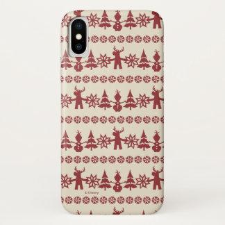 Frozen   Winter Wishes Pattern iPhone X Case