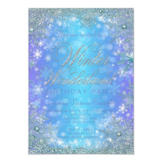 Frozen winter wonderland birthday party invitation zazzle frozen winter wonderland birthday party invitation filmwisefo