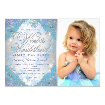 Quinceanera Purple Winter Wonderland Snowflakes Invitation Zazzle Com