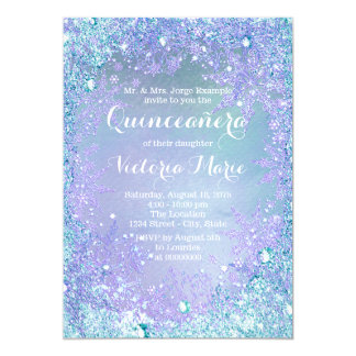 Frozen Winter Wonderland Quinceanera Card