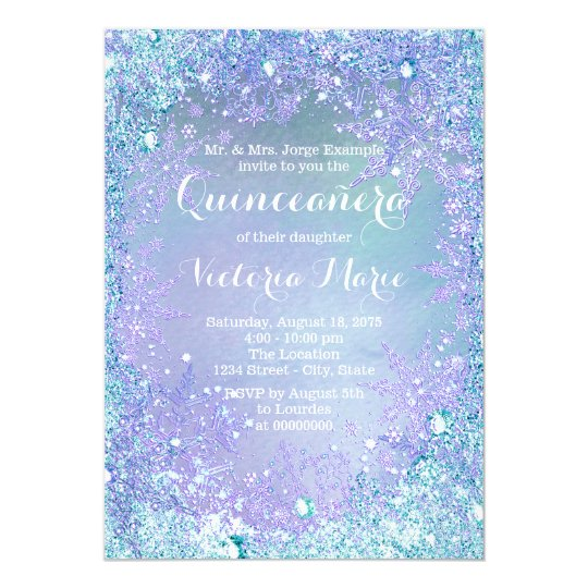 frozen winter wonderland quinceanera invitation zazzle com