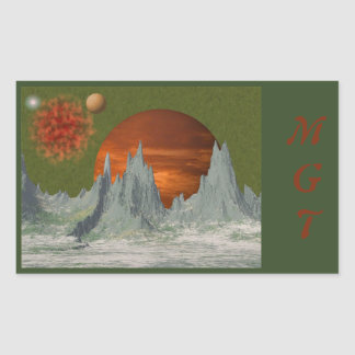 Frozen World Space Scene Stickers