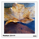 Frozen Yellow Maple Leaf Autumn Nature Wall Decal