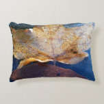 Frozen Yellow Maple Leaf Decorative Pillow
