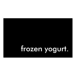 frozen yogurt. business card