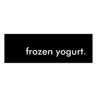 frozen yogurt. Double-Sided mini business cards (Pack of 20)