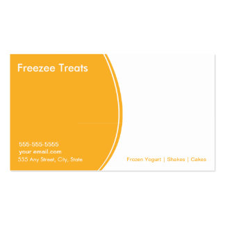 Frozen Yogurt Customer Loyalty Business Card