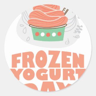 Frozen Yogurt Day - Appreciation Day Classic Round Sticker