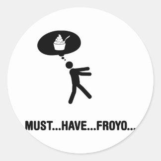 Frozen yogurt lover stickers