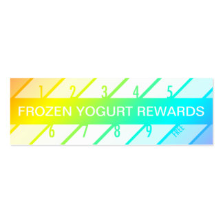 frozen yogurt loyalty card (retrograde) mini business card