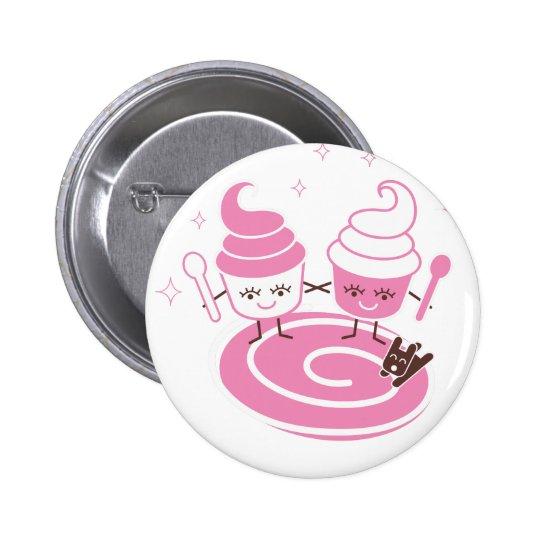 Frozen Yogurt Sisters Button