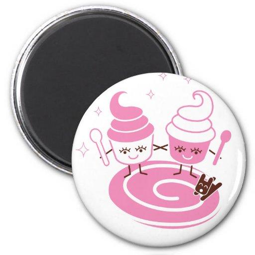 Frozen Yogurt Sisters Magnet