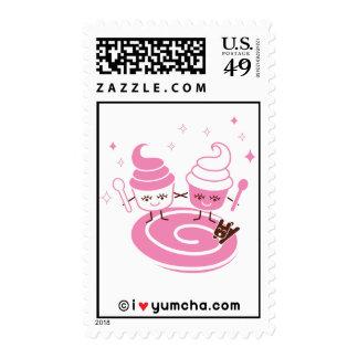 Frozen Yogurt Sisters Postage Stamp