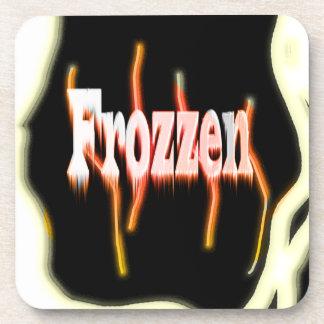 Frozzen on fire frozen drink coaster