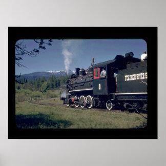 FRSL RR 2-6-2 #8, logging rod_Trains Poster